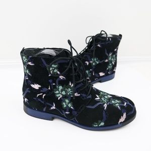nearly new ∙ camper ∙ twins printed suede bootie